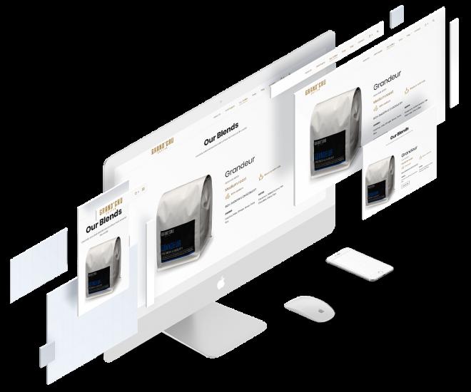 Website Flat Mockup Small